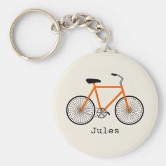 Orange Bicycle Keychain