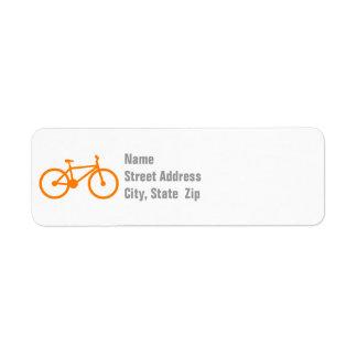 Orange Bicycle Label