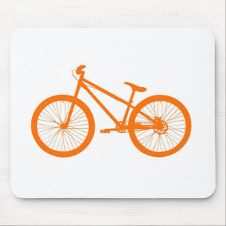 Orange bicycle mouse pad