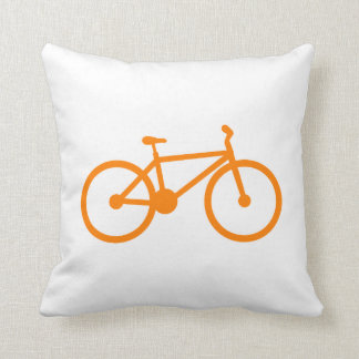 Orange Bicycle Pillows