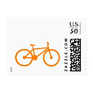 Orange Bicycle Postage