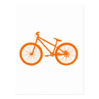 Orange bicycle postcard