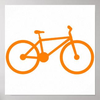 Orange Bicycle Poster