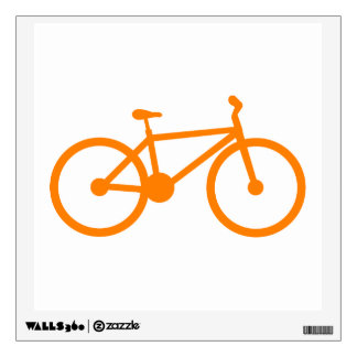 Orange Bicycle Wall Stickers