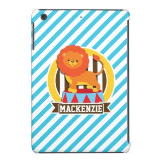 Orange Big Top Circus Lion; Blue & White Stripes iPad Mini Covers
