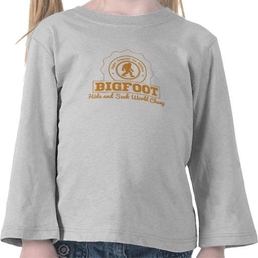 Orange Bigfoot Hide And Seek World Champ T Shirts