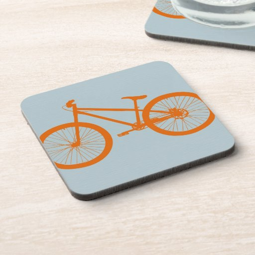 Orange Bike Beverage Coaster