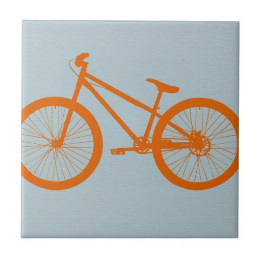 Orange Bike Ceramic Tile