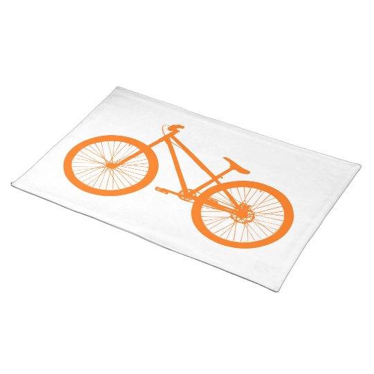 Orange Bike Cloth Placemat