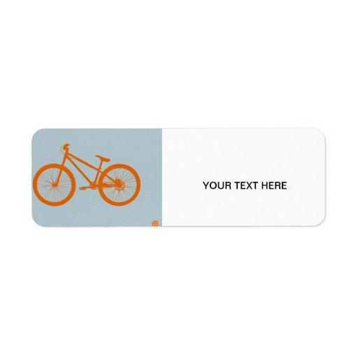 Orange Bike Custom Return Address Labels
