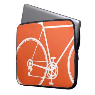 orange bike design Laptop Sleeve