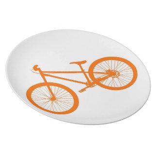 Orange Bike Melamine Plate