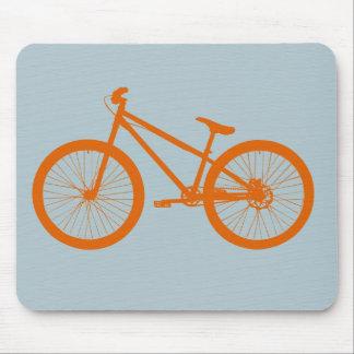 Orange Bike Mouse Pad