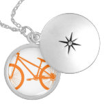 Orange Bike Personalized Necklace
