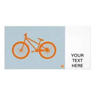 Orange Bike Customized Photo Card