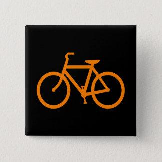 Orange Bike Pinback Button