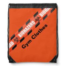 Orange Biohazard School Gym Bag