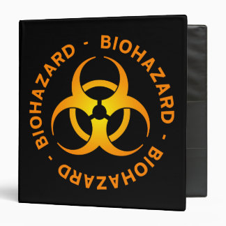 Orange Biohazard Symbol Binder