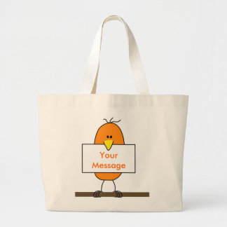 Orange bird canvas bags