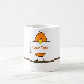 Orange bird coffee mugs