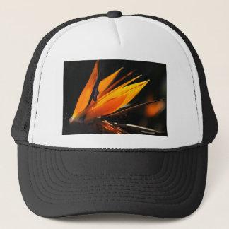 Orange Bird of Paradise Strelitzia Trucker Hat