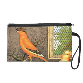 Orange Bird Wristlet Clutches