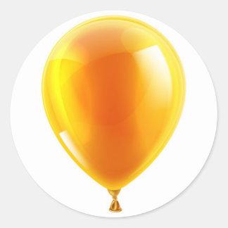 Orange birthday or party balloon sticker