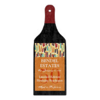Orange Birthday Wine Bottle Glass Cutting Board