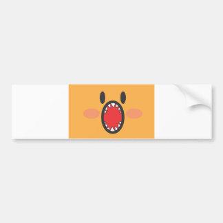 Orange Bite Bumper Sticker