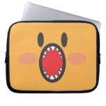 Orange Bite Laptop Computer Sleeves
