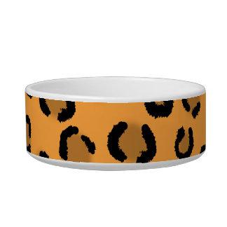 Orange, Black and Brown Leopard Print Pattern. Bowl