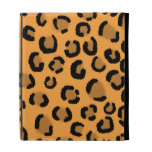 Orange, Black and Brown Leopard Print Pattern. iPad Case