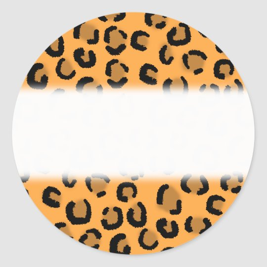 Orange, Black and Brown Leopard Print Pattern. Classic Round Sticker