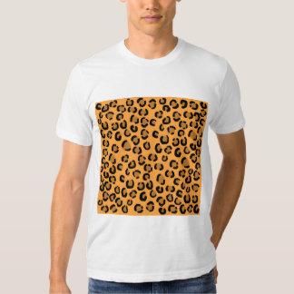 Orange, Black and Brown Leopard Print Pattern. T Shirt