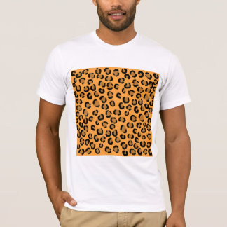 Orange, Black and Brown Leopard Print Pattern. T-Shirt