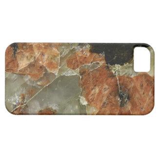 Orange, Black and Clear Quartz iPhone SE/5/5s Case