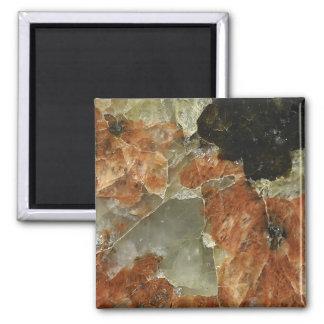 Orange, Black and Clear Quartz Magnet