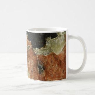 Orange, Black and Clear Quartz Coffee Mugs