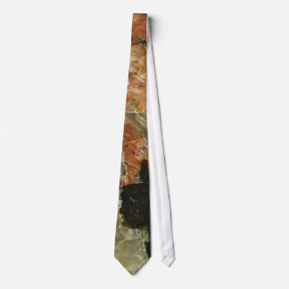 Orange, Black and Clear Quartz Neck Tie