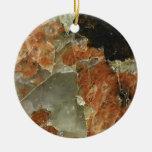 Orange, Black and Clear Quartz Christmas Tree Ornament
