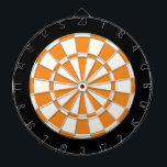 "Orange Black And White Dartboard<br><div class=""desc"">Orange Black And White Dart Board</div>"