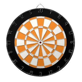Orange Black And White Dartboard