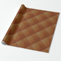 Orange Black Basketball Mesh Abstract Pattern Wrapping Paper