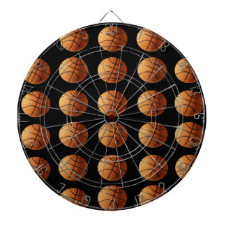 Orange Black Basketball Pattern, Dartboard