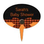Orange & Black Bat Baby Shower Cake Pick