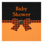 Orange & Black Bat Baby Shower Custom Announcements