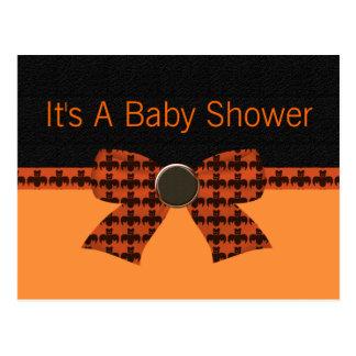 Orange & Black Bat Baby Shower Post Cards