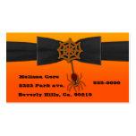 Orange & Black Bling Spider Web Business Card Templates