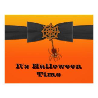 Orange & Black Bling Spider Web Flyer