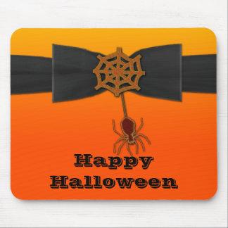 Orange & Black Bling Spider Web Mouse Pads